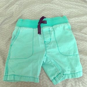Mint Color Boys 4T Carter Shorts